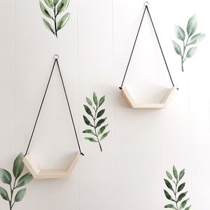 Set of 2 Hanging Shelves|Plant Shelf|Hanging Plant